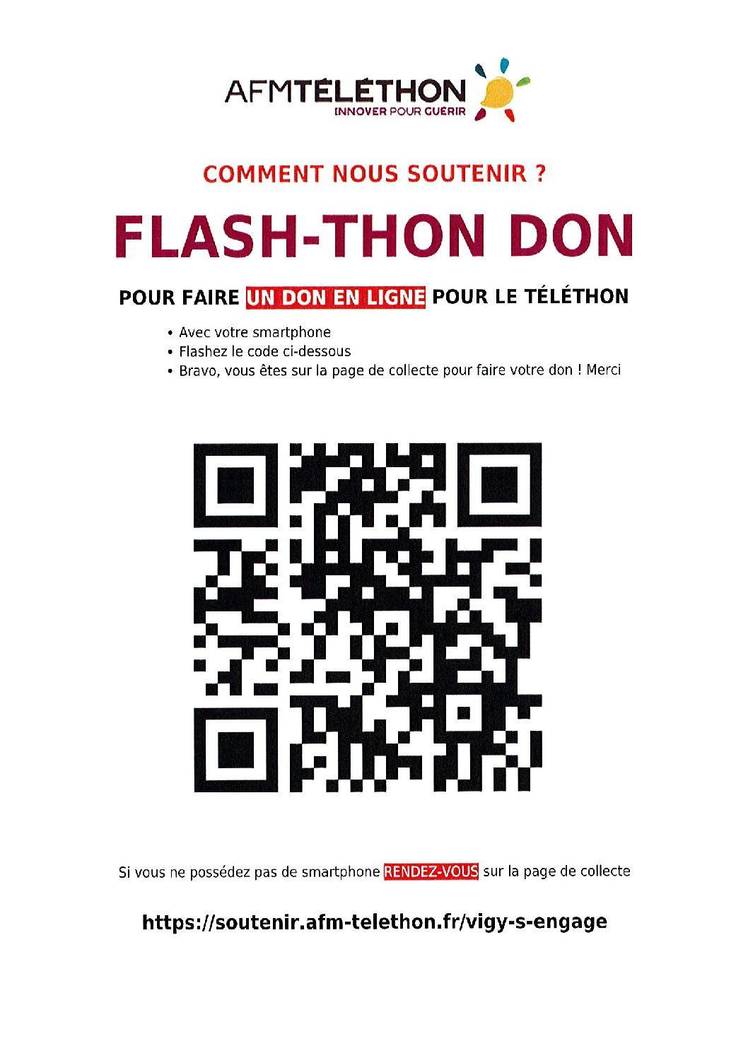 Téléthon 2020 – partenariat de la municipalité avec le collège Charles Péguy